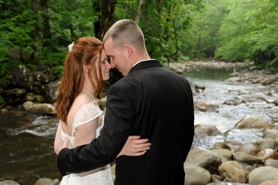 Intimate smoky Mountain Wedding