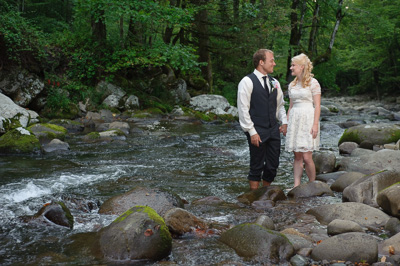 Destination wedding in the Smokies