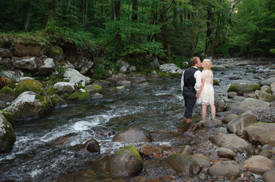 intimate Gatlinburg Wedding