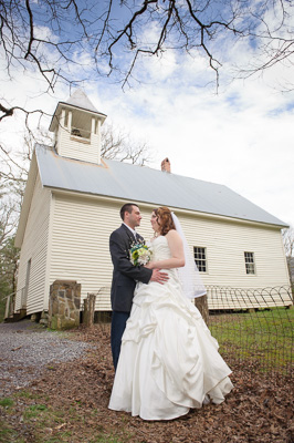 Historic Cades Cove Church wedding package